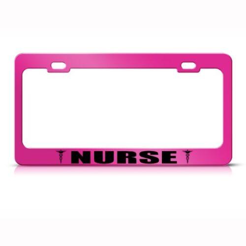MEDICAL NURSE CARETAKER Metal License Plate Frame Tag Holder