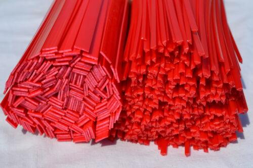 4 pacco da 30 pz-FORMA TRIANGOLARE 8mm Rosso In plastica ABS saldatura Bacchette 3