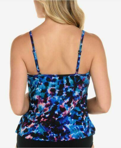 New Magic Suit by Miraclesuit Swimsuit Tankini Top sz 10 Purple