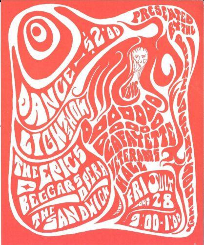 FRUMIOUS BANDERSNATCH Psychedelic Fillmore Era Concert Handbill Flyer 1967