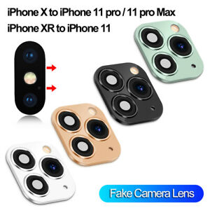 Fake-Lens-Camera-Sticker-for-iPhone-X-XS-MAX-Change-to-iPhone-11-Pro-Max-Cover