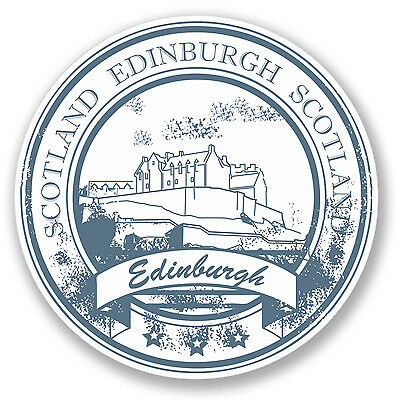 2 x Edinburgh Scotland Travel Luggage Sticker Car Bike iPad Laptop Decal #4161
