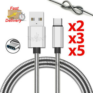 UNBREAKABLE-METAL-FLEXIBLE-FAST-USB-CHARGING-CABLE-FOR-SAMSUNG-IPAD-PRO-TYPE-C
