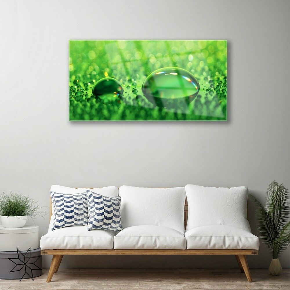 Print on on on Glass Wall art 100x50 Picture Image Waterdrop Art 6f4987