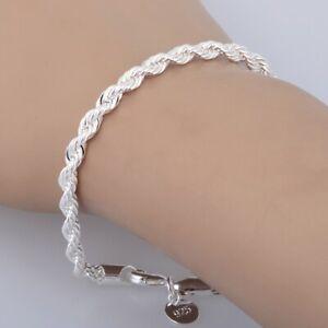 TOP-Qualitaet-Damen-Silber-Armband-Twisted-Seil-Kette-Halskette-Armband-Geschenk