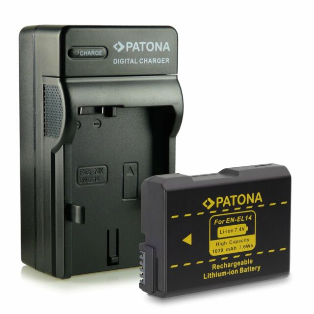 Battery+Charger for enel14 for Nikon Professional Reflex Df Patona 1030 MAH