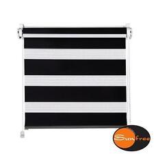 Klemmfix Mini Doppelrollo 45 x 150 cm (BxH) Farbe schwarz von Sunfree