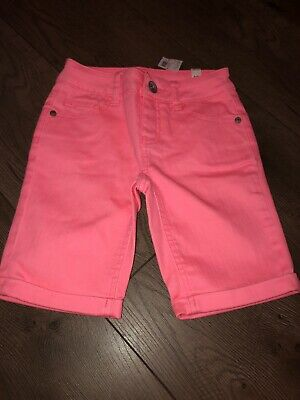 NEW 12 16 Reg Plus JUSTICE Girls Stretch Denim Bermuda Jean Shorts