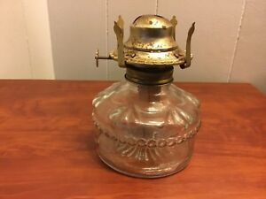Image Is Loading Vintage Eagle Oil Lamp Burner Brass Amp Glass