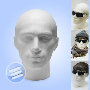 2-x-POLYSTYRENE-MALE-DISPLAY-HEAD-MANNEQUIN-WIGS-HATS