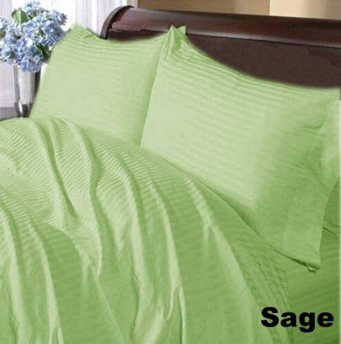 SAGE STRIPE COMBO 1000TC  EGYPTIAN COTTON CHOOSE SIZE DUVET SET + BED SKIRT