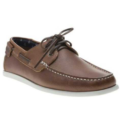 New Mens SOLE Tan Penri Leather Shoes Boat Lace Up