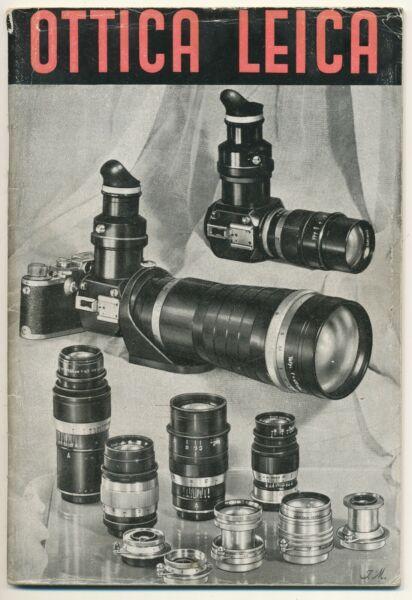 "Amical Leitz, Raro Libretto ""ottica Leica"" In Italiano 56 Pagine, 1941 E754 Cadeau IdéAl Pour Toutes Les Occasions"