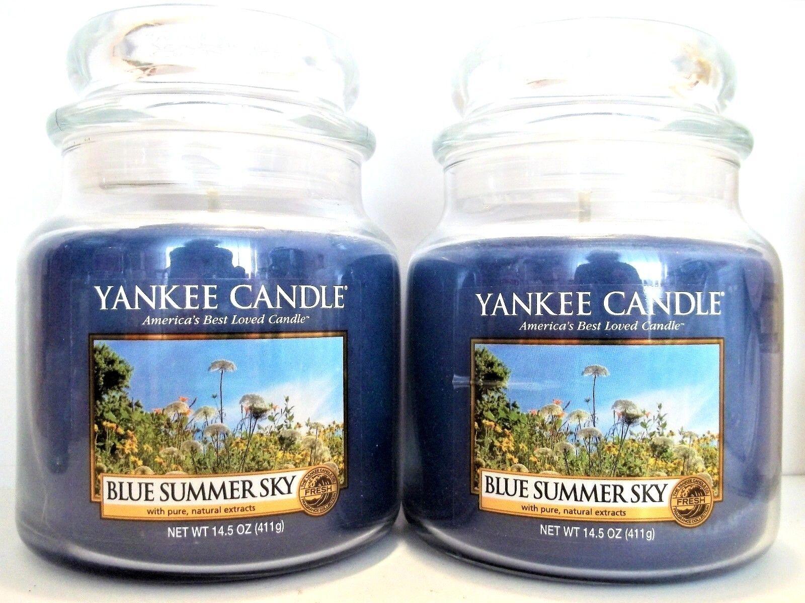 YANKEE Candle blueE SUMMER SKY Jar Candles, 14.5 oz 411 g, NEW x 2
