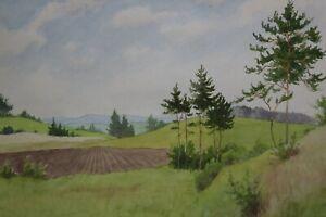 Gustav-Mueller-Aquarell-Oberfraenkische-Jura-Landschaft-1971