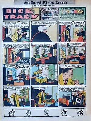 Dick Tracy by Chester Gould - full tab color Sunday comic page - Dec  14,  1952 | eBay