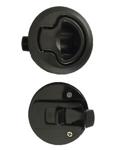 Slam Latch Flush Mount Boat Caravan 4WD Door Latch 62mm Suits 18mm deep Black