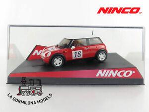 NINCO-MINI-COOPER-ROJO-18-SLOT-SCALEXTRIC-NUEVO