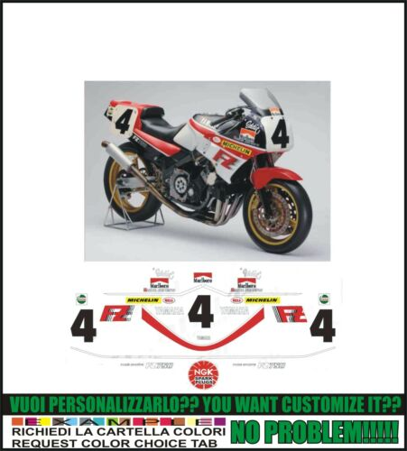 kit adesivi stickers compatibili fz 750 eddie lawson ama sbk