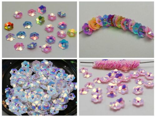 Craft Sewing Wedding 6mm 8mm 10mm Beautiful Cup Flower loose sequins Paillettes