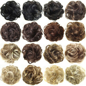 PW-Real-Natural-Curly-Messy-Bun-Hair-Piece-Scrunchie-New-Fake-Hair-Extensions