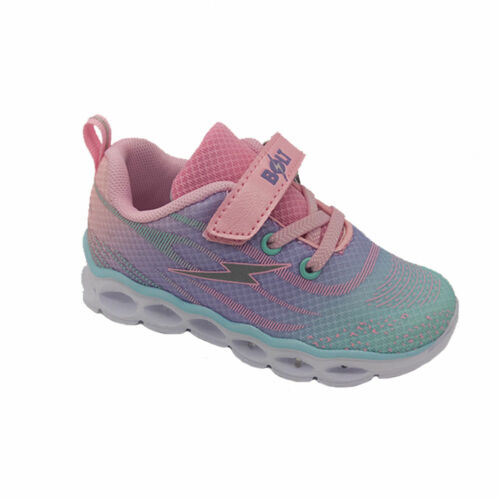 Girls Shoes Bolt Excite LED Light Up sole Runner Hook and Loop Size UK 6-12 New