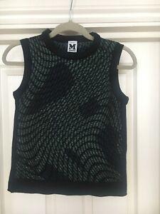 green Top Wool Black Rare Scalloped Uk Womens Tank Missoni 8 Mix wPqOgEEH