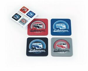 VW-VOLKSWAGEN-VWT1-COASTERS-SET-OF-4-OFFICIAL-LICENSED-PRODUCT-BRAND-NEW