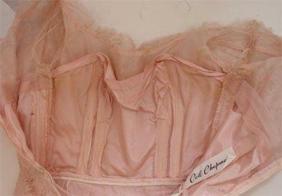 CEIL CHAPMAN 1950s Light Pink Lace Cocktail Dress - image 7