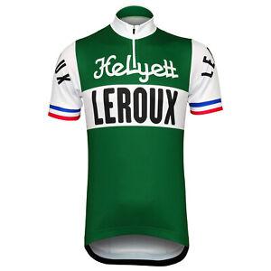 Helyett Leroux Team Retro Cycling Jersey