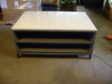 Retail Display Table With Pull Out Sliding Drawers Set Of 2