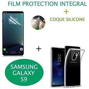 Coque-transparente-souple-silicone-samsung-galaxy-S9-film-integral-entier