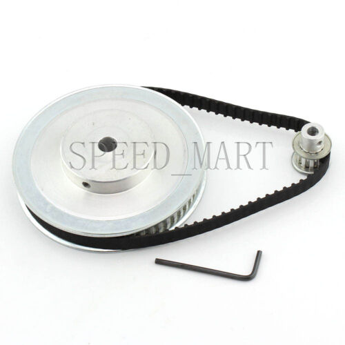XL 60T 10T Timing Pulley Belt set kit Reduction Ratio 6:1 For Stepper Motor CNC