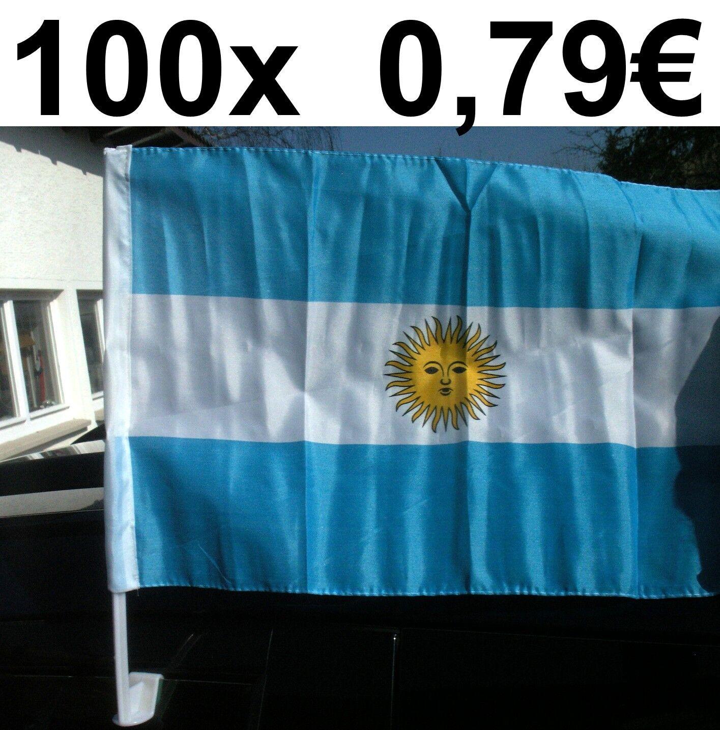 100x AUTOFAHNE ARGENTINIEN AUTOFAHNEN FLAGGE FUßBALL WM FAHNE FLAGGE AUTOFAHNEN AUTOFLAGGE BANDERA a0d919