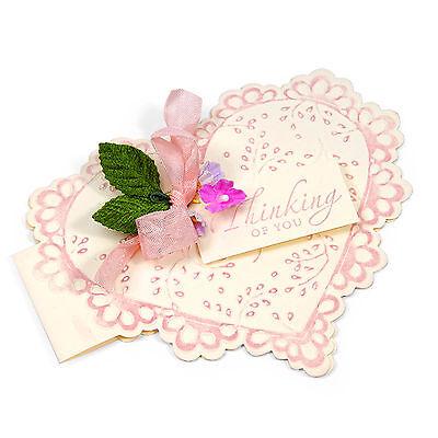Sizzix Bigz XL Scallop Heart Card die #657759 Retail $39.99 Retired SO Beautiful