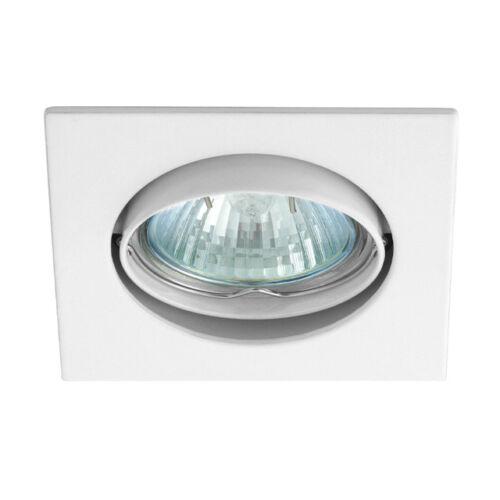 Einbaurahmen NC Deckenspotleuchte Leuchtenfassung eckig für GU10 LED Spot Weiss