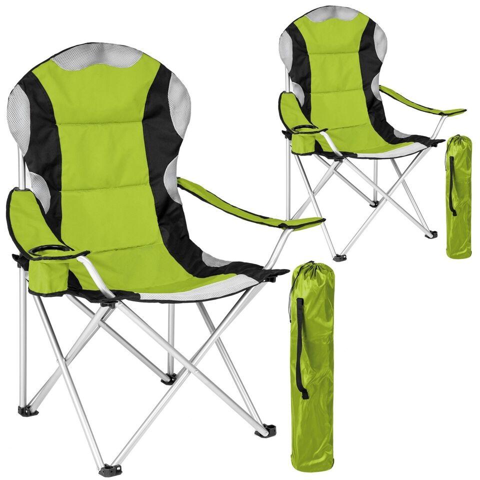 2 Polstret campingstole grøn