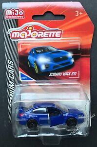 Majorette-Premium-Cars-Subaru-WRX-STI-1-64-Blue-Diecast-Car