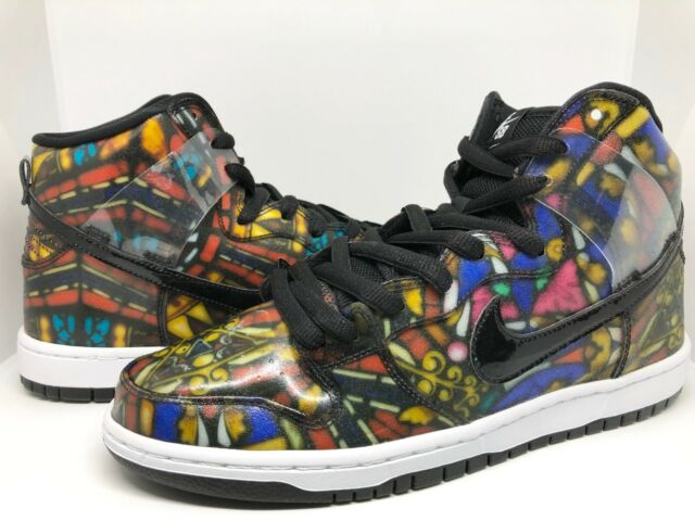 the best attitude 3afda c604a Nike Sz 9.5 Dunk SB QS High Premium X Concept Stained Glass Concepts  313171-606