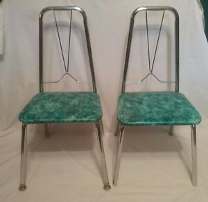Superb Details About Rare Htf Lot Of 2 Vintage Childrens Metal Chairs Teal Pretend Play Toddler Download Free Architecture Designs Scobabritishbridgeorg