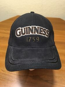 Guinness-1759-Black-One-Size-Hat-Cap-Beer-Stretchy-Embroidered