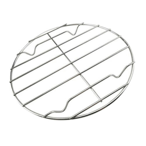 2 Stück Edelstahl Grill Grillrost Ersatznetze für Backform, 25 cm