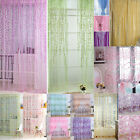 Various Balcony Tulle Room Divider Floral Print Sheer Curtain Panel Window 1Pcs