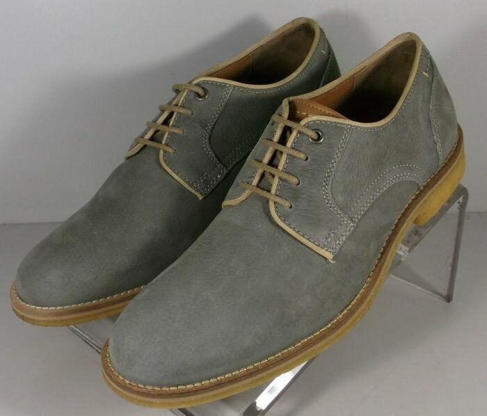 271609 SP50 Men's Shoes Size 9 M Gray Leather Lace Up Johnston & Murphy