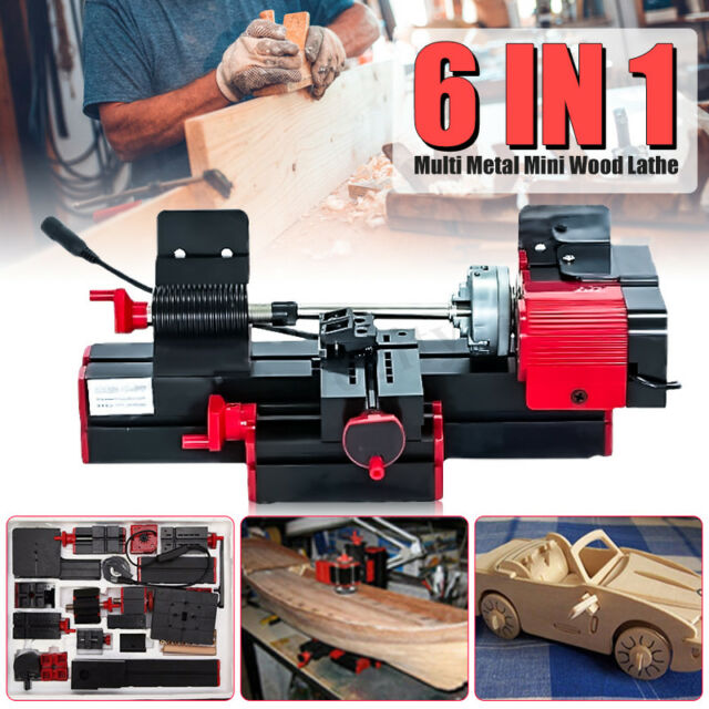 Jig-saw 6 in 1 Mini Multi Metal Lathe Wood Model Milling Drilling Machine  CNC