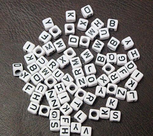 100pc kid DIY Number Alphabet Letter Beads Charms For Loom Rubber bracelet Bands