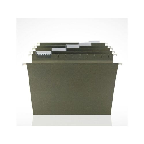 Staples Hanging File Folders 5-Tab Letter Size Standard Green 250//BX 179494