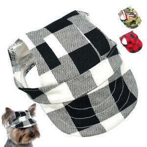 cbd6b3f714e584 Canvas Summer Cat Dog Baseball Cap Sun Protect Visor Outdoor Black ...