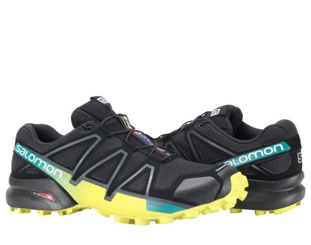 cc945f80900c ... Salomon Speedcross 4 Black Everglade Sulphur Men s Trail Running Shoes  392398 ...