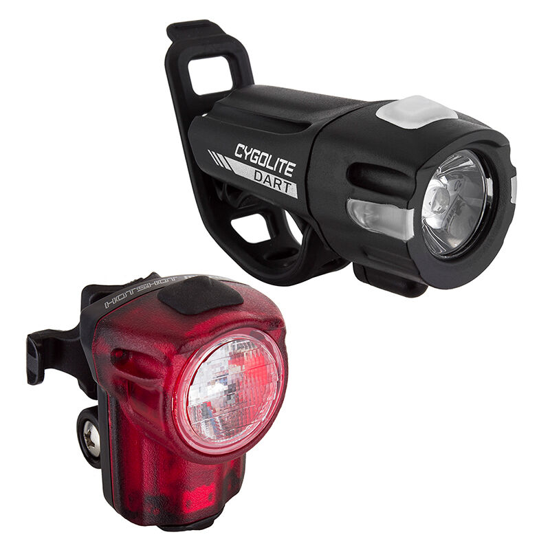 COMBO CYGOLITE DART  210 HOTSHOT 30 USB RECHARGEABLE LED BIKE HEADLIGHT TAILIGHT  store sale outlet